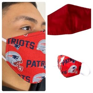 Accessories - Patriots Adult reversible face mask